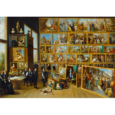 Art-by-Bluebird-Puzzle-60054 David Teniers the Younger - The Art Collection of Archduke Leopold Wilhelm in Brussels, 1652
