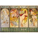 Art-by-Bluebird-Puzzle-60056 Mucha - Four Seasons, 1900