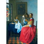 Art-by-Bluebird-Puzzle-60067 Vermeer- The Girl with the Wine Glass, 1659