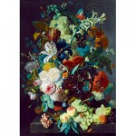 Art-by-Bluebird-Puzzle-60072 Jan Van Huysum - Still Life with Flowers and Fruit, 1715