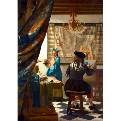Art-by-Bluebird-Puzzle-60083 Johannes Vermeer - Art of Painting, 1668