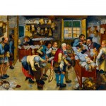 Art-by-Bluebird-Puzzle-60085 Pieter Brueghel the Younger - The Tax-collector's Office, 1615