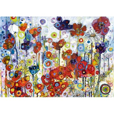 Art-by-Bluebird-Puzzle-60121 Sally Rich - Poppies