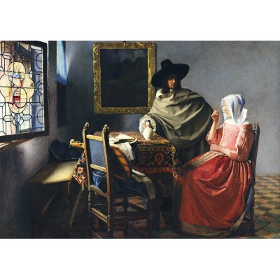Art-by-Bluebird-Puzzle-60133 Johannes Vermeer - The Glass of Wine, 1661