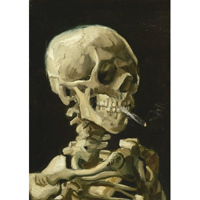 Art-by-Bluebird-Puzzle-60134 Vincent Van Gogh - Head of a Skeleton with a Burning Cigarette, 1886