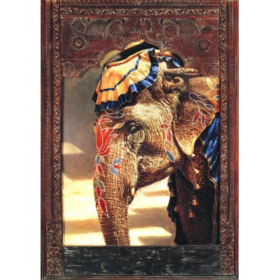 Bluebird-Puzzle-70061 Painted Lady With Frame