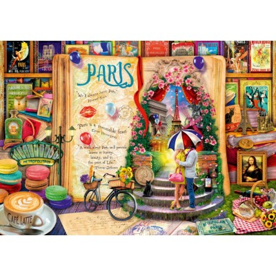 Bluebird-Puzzle-70239-P Life is an Open Book Paris