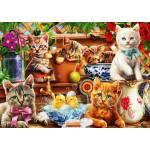 Bluebird-Puzzle-70241-P Kittens in the Potting Shed