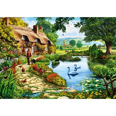 Bluebird-Puzzle-70315-P Cottage by the Lake