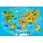 Bluebird-Puzzle-70378 World Travel Map
