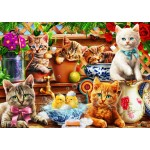 Bluebird-Puzzle-70400 Kittens in the Potting Shed