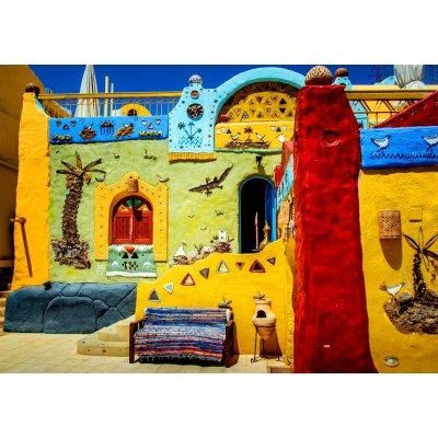 Bluebird-Puzzle-70435 Colorful African Village