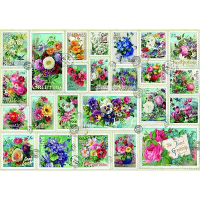 Bluebird-Puzzle-70472 Stamp Flower Collection