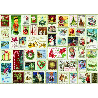 Bluebird-Puzzle-70488 Christmas Stamps
