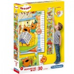 Clementoni-20339 Measure Me Puzzle - Kid And Cats