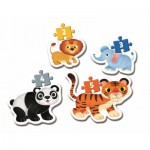 Clementoni-20810 My First Puzzle - Wild Animals (4 Puzzles)