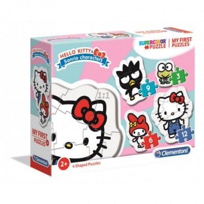 Clementoni-20818 My First Puzzle - Hello Kitty (4 Puzzles)