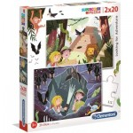 Clementoni-24763 2 Puzzles - Looking For Adventure