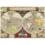 Clementoni-36526 Antique Nautical Map