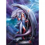 Clementoni-39525 Anne Stokes : Dragon Mage
