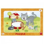 Dino-30131 Puzzle Cadre - Chats