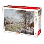 Deico-Games-76656 Brueghel Le Jeune - Winterlandscape with a Bird Traps