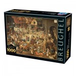 Dtoys-76885 Pieter Brueghel Le Vieux - The Fight Between Carnival and Lent