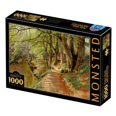 Dtoys-77653 Peder Mørk Mønsted - A Spring Day in the Woods with Fresh-Blown Beeches and Anemones in the Forest B