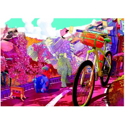 Heye-29677 The Ride Journal : Tour in Pink