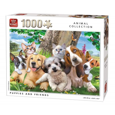 King-Puzzle-55846 Puppies and Friends