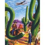 New-York-Puzzle-AA1701 Cactus Country - American Airlines Poster Mini