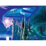 New-York-Puzzle-HP1710 Pièces XXL - Harry Potter - Journey to Hogwarts