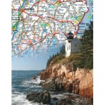 New-York-Puzzle-NG1852 Maine State Map Mini