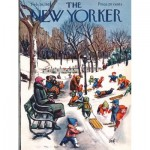 New-York-Puzzle-NY1886 Pièces XXL - Sledding in the Park