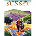 New-York-Puzzle-SU2006 Pièces XXL - Sunset - Horses in The Hills