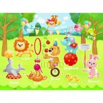 Pintoo-T1017 Puzzle en Plastique - Circus in the Forest (en anglais)