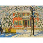 Pomegranate-AA1101 Lawren S. Harris - Red House and Yellow Sleigh