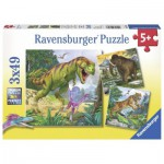 Ravensburger-09358 3 Puzzles - Animaux Sauvages