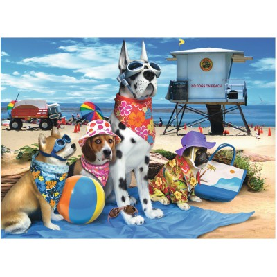 Ravensburger-10526 No Dogs on the Beach