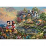 Schmidt-Spiele-59639 Thomas Kinkade, Disney-Sweethearts Mickey & Minnie