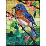 Sunsout-70716 Cynthie Fisher - Stained Glass Bluebird