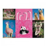 Trefl-10594 Neon Color Line - Crazy Pets