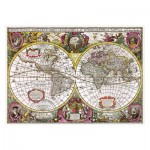 Trefl-27095 A New Land and Water Map of the Entire Earth, 1630