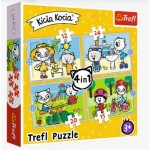 Trefl-34372 4 in 1 - Kittykit day (12-15-20-24 Pièces)
