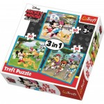 Trefl-34846 3 in 1 - Mickey Mouse with friends