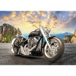Trefl-37384 Black Motorcycle